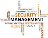 Word cloud - security management — Stock Vector