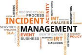 Word cloud - incident management — Stock Vector