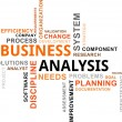 Stock Vector: Word cloud - business analysis