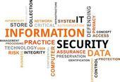 Word cloud - information security — Stock Vector