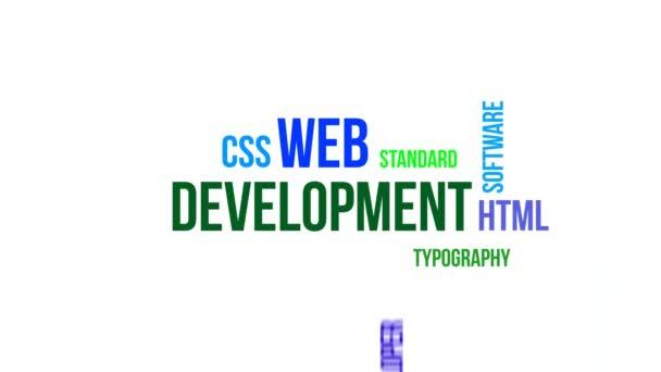 Typographie cinétique - développement web — Vidéo