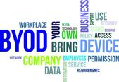Word cloud - byod — Stockvector