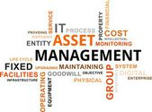 Word cloud - asset management — Stockvector