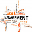 Stock Vector: Word Cloud - Asset Management
