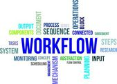 Word cloud - workflow — Vector de stock