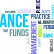 Word cloud - finance — Stock vektor