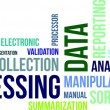 Word cloud - data processing — 图库矢量图片