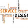 Stock Vector: Word cloud - service design