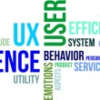 Word cloud - user experience — Imagen vectorial