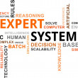 Stock Vector: Word cloud - expert system