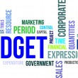 Word cloud - budget — Image vectorielle
