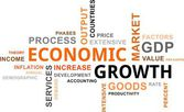 Word cloud - economic growth — Stock Vector