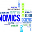 Stock Vector: Word cloud - economics