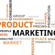 Stock Vector: Word cloud - product marketing