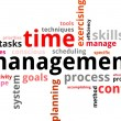Stock Vector: Word Cloud - Time Management