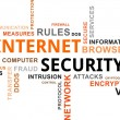 Word cloud - internet security — Stock Vector
