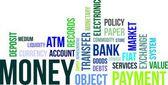 Word cloud - money — Stock Vector