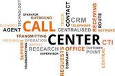 облако слов - call-центр — Cтоковый вектор