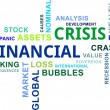 Stock Vector: Word cloud - financial crisis