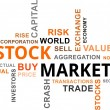 Word cloud - stock market — Stock Vector