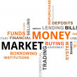 Word cloud - money market — Stock Vector