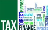 Word Cloud - Tax — Stock Vector