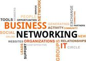 Word cloud - business networking — Stock vektor