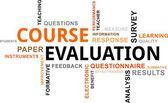 Nube de la palabra - la evaluación del curso — Vector de stock