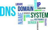 Word cloud - dns — Stock Vector
