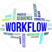 Word cloud - workflow — Vecteur