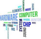 Word cloud - hardware — Stock Vector