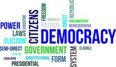 Word cloud - democracy — Stock Vector