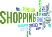 Word cloud - shopping — Stock vektor