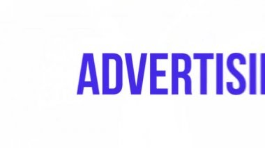 Kinetic typography advertising — Stock Video