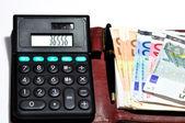 Calculator and Money — Stock Photo