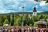 Midsummer's Eve in Jarvso — Stock Photo