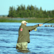 Stock Photo: Fly Fishing