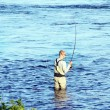 fly fishing — Stock Photo