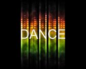 Танец фоном — Стоковое фото