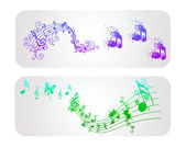 Music banner — Stock Vector