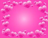 Pink heart frame vector — Stock Vector