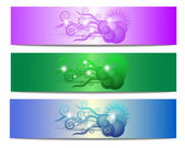 Colorful floral vector banner — Stock Photo