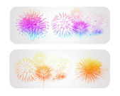 Colorful firework vector banner — Stock Vector