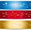 Colorful Christmas Vector  Banner — Stock Vector