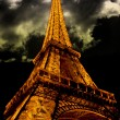 Eiffel Tower by Night in Paris France — Stock Photo