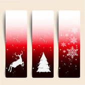 Colorful Decorative Christmas Banner — Stock Vector