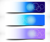 Colorful Decorative Abstract Banner — Stock Vector