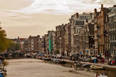 Scene in Amsterdam,Holland Europe — Stock Photo