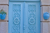 古代建物の木製のドア. — ストック写真