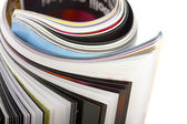Closeup rolled magazin — Stock fotografie